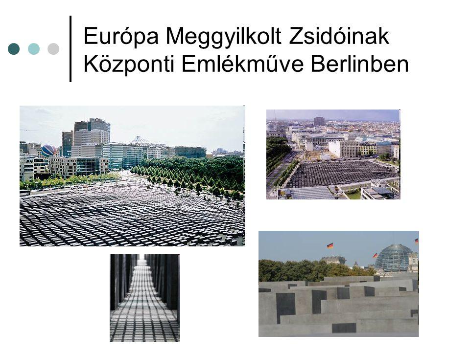 Európa Meggyilkolt Zsidóinak Központi Emlékműve Berlinben