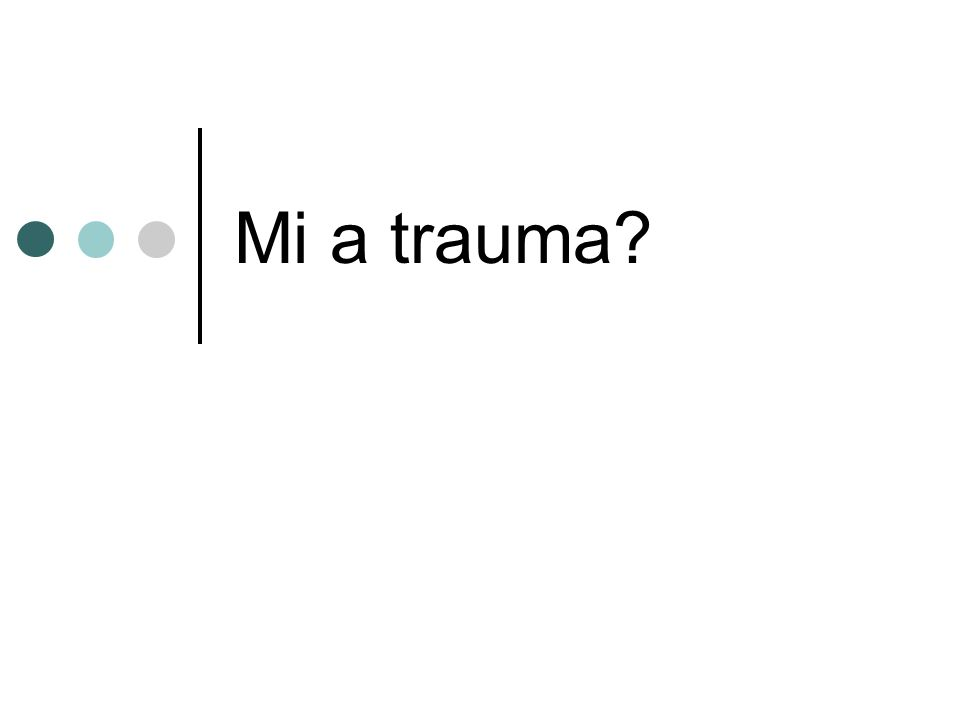 PTSD - Kiknél.