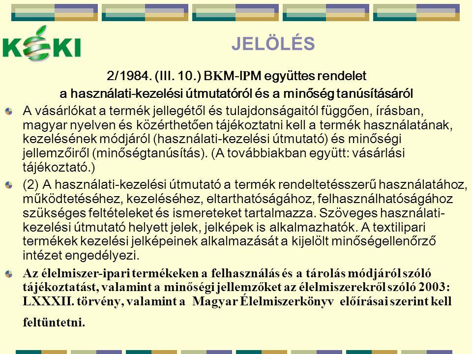 JELÖLÉS 2/1984.(III.