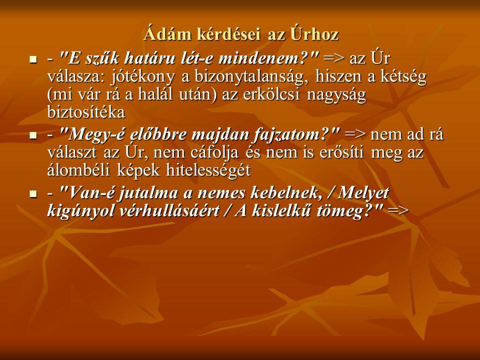 Ádám kérdései az Úrhoz -