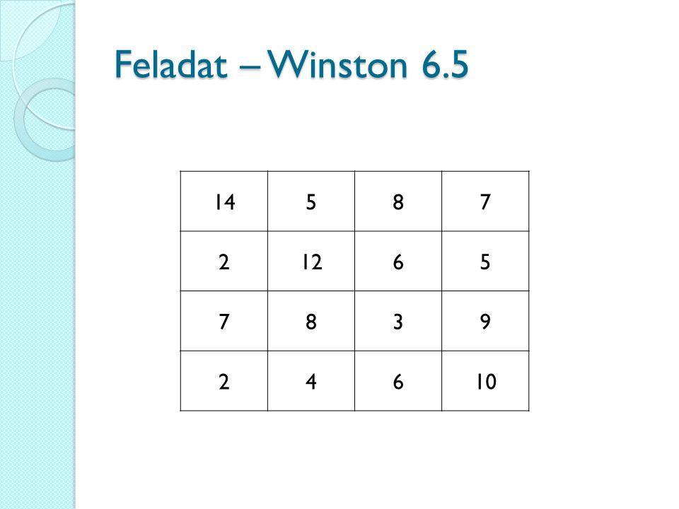 Feladat – Winston 6.5 14587 21265 7839 24610