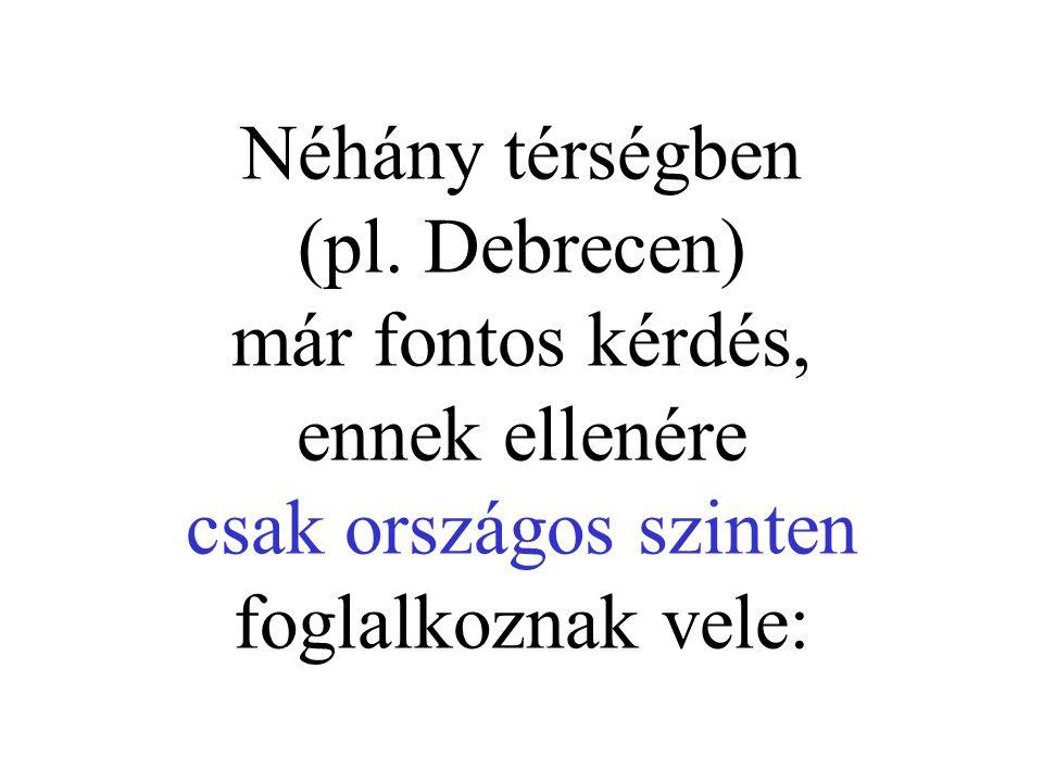 Néhány térségben (pl. Debrecen) már fontos kérdés, ennek ellenére csak országos szinten foglalkoznak vele: