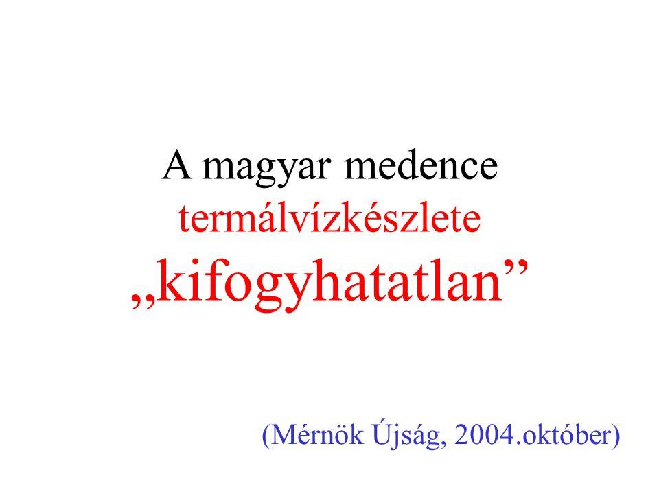 """A magyar medence termálvízkészlete """"kifogyhatatlan"""" (Mérnök Újság, 2004.október)"""