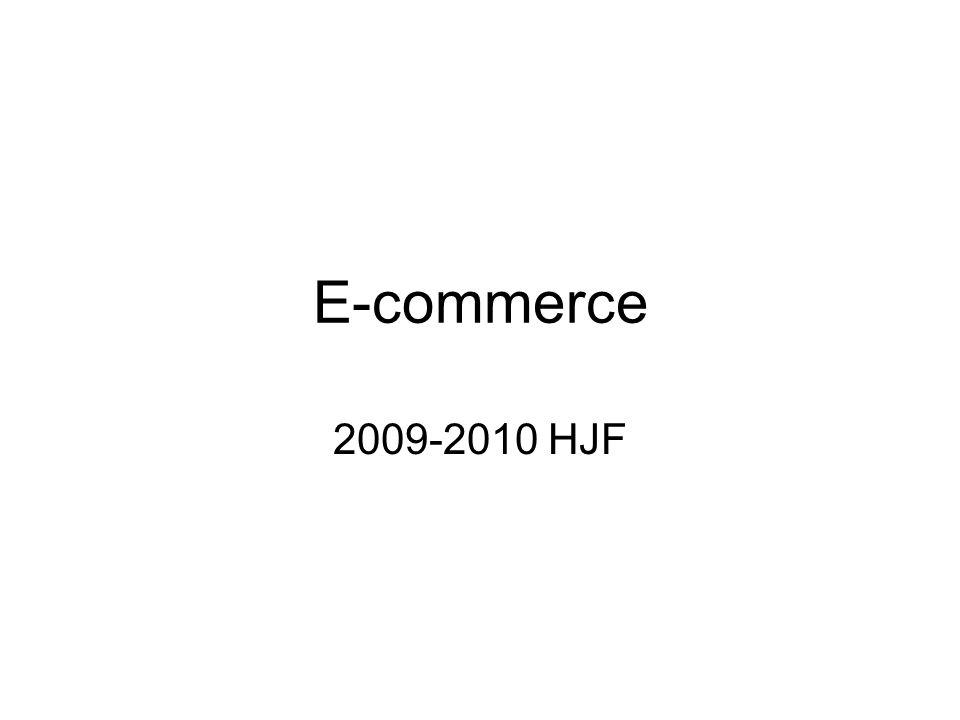 E-commerce 2009-2010 HJF