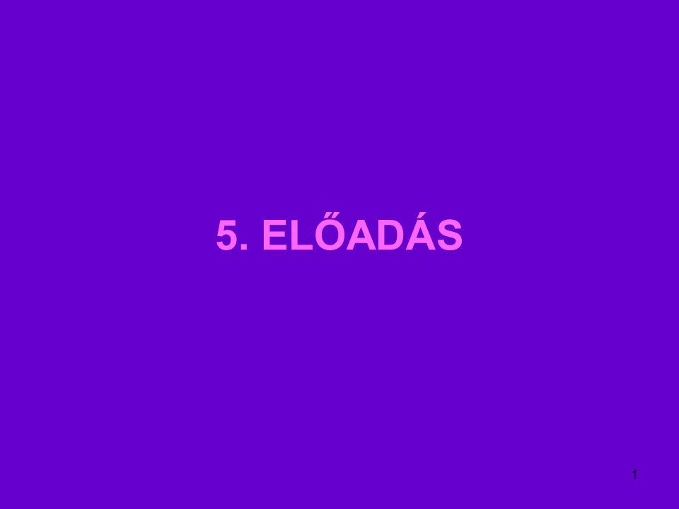 1 5. ELŐADÁS