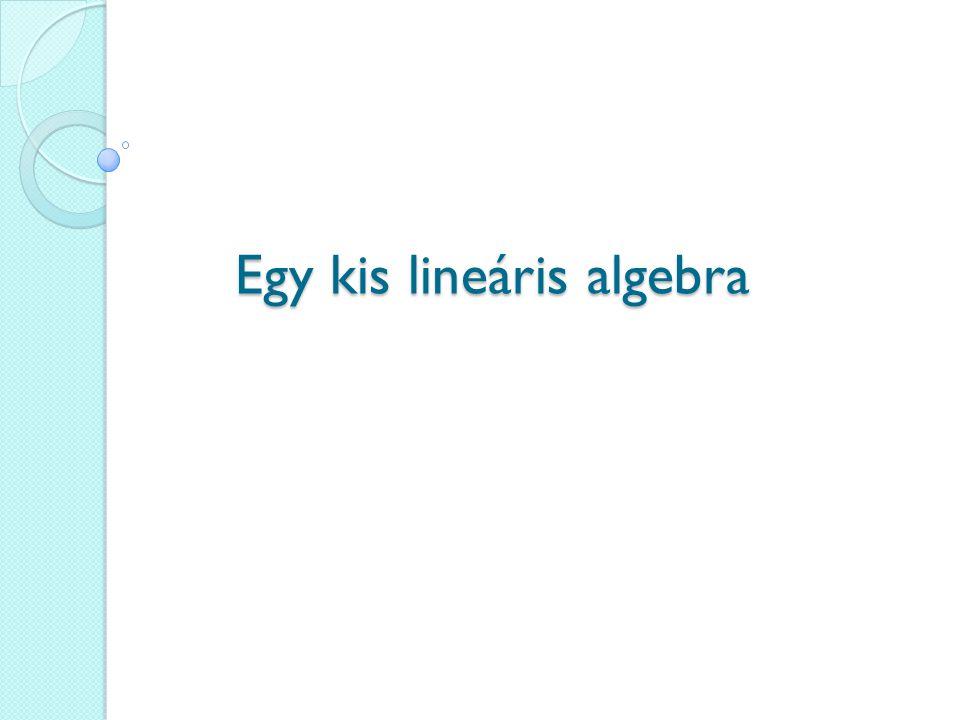Egy kis lineáris algebra
