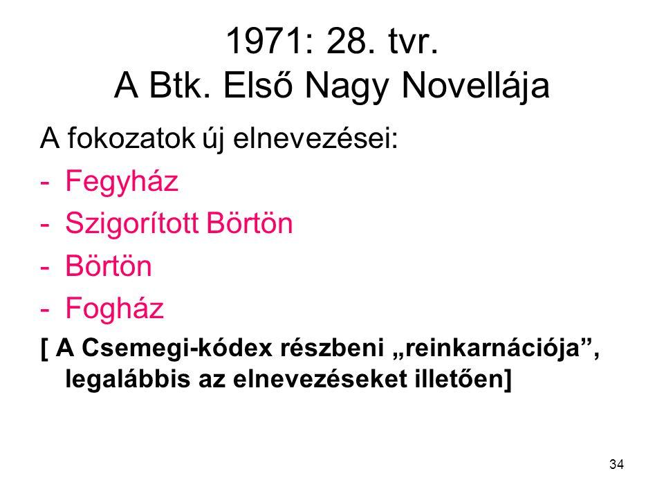 34 1971: 28.tvr. A Btk.