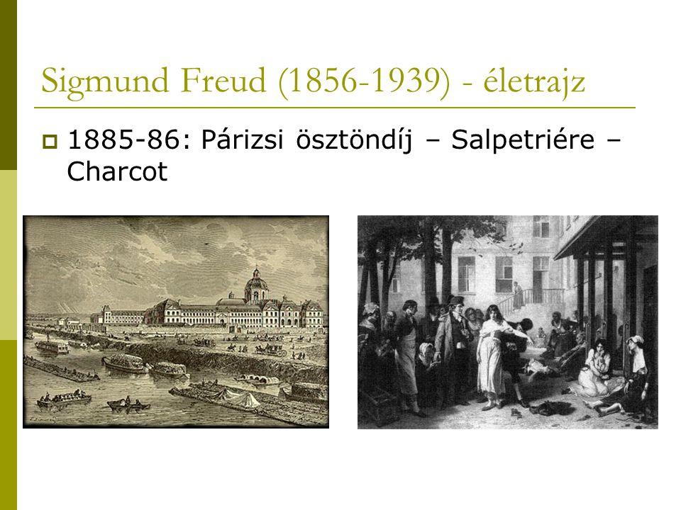Sigmund Freud (1856-1939) - életrajz  1885-86: Párizsi ösztöndíj – Salpetriére – Charcot