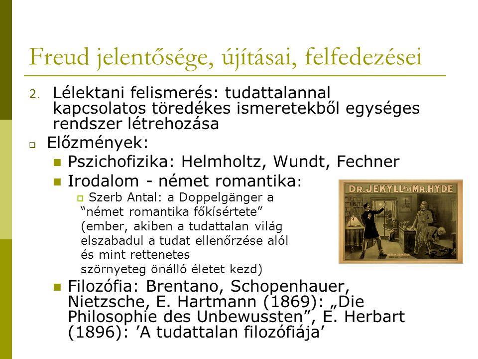 Freud jelentősége, újításai, felfedezései 2.