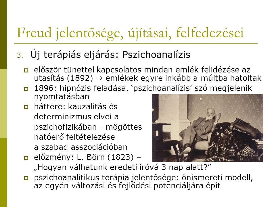 Freud jelentősége, újításai, felfedezései 3.
