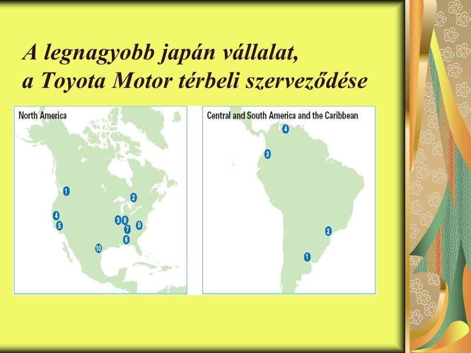 A legnagyobb japán vállalat, a Toyota Motor térbeli szerveződése