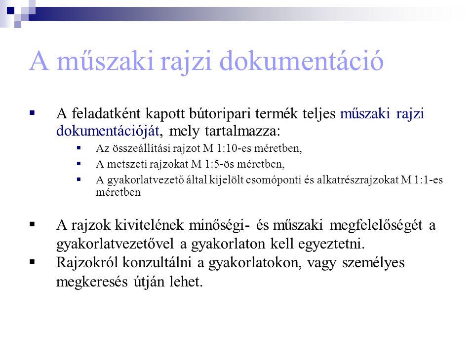 Műszaki leírás elkészítése A műszaki leírások formája és tartalma kötetlen.