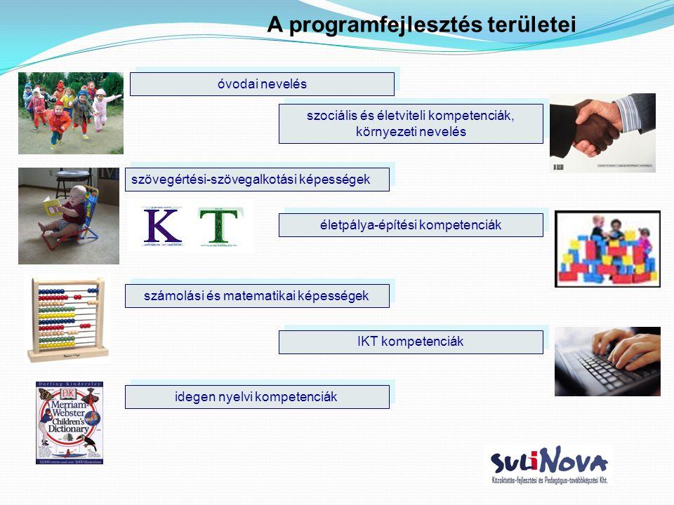 A programfejlesztés területei szövegértési-szövegalkotási képességek számolási és matematikai képességek IKT kompetenciák idegen nyelvi kompetenciák s