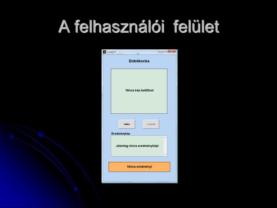 A felhasználói felület