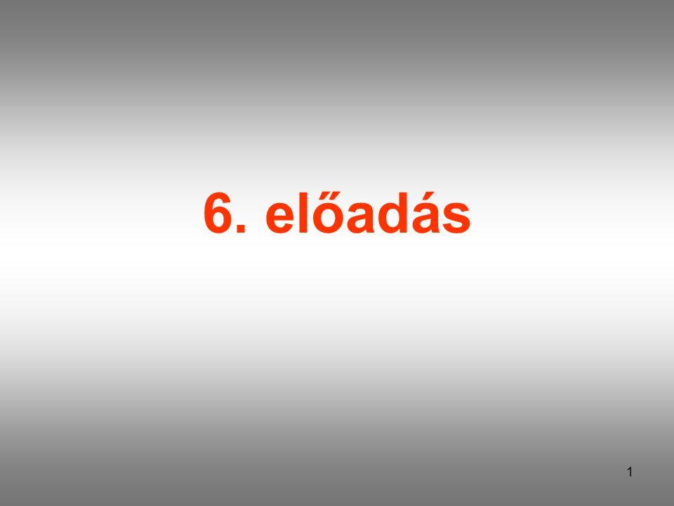 1 6. előadás