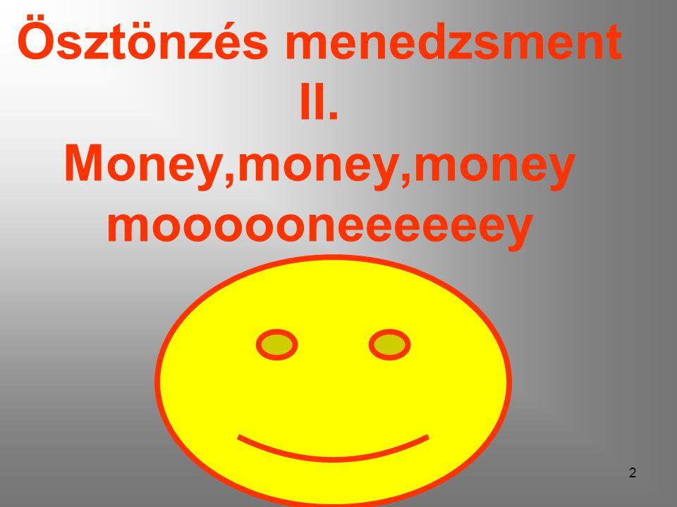2 Ösztönzés menedzsment II. Money,money,money moooooneeeeeey