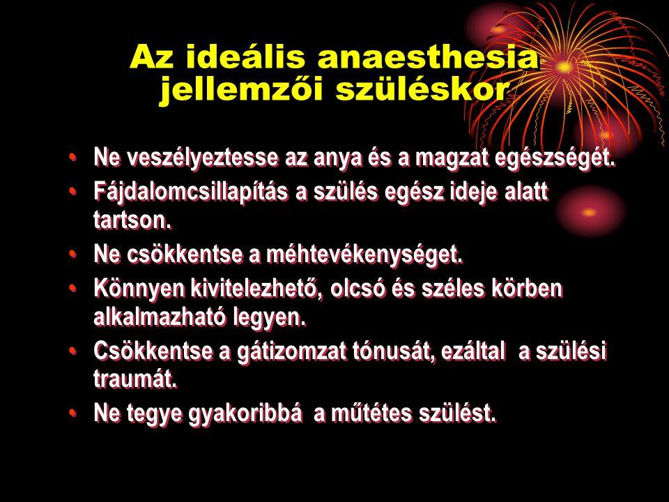 Az ideális anaesthesia jellemzői szüléskor Ne veszélyeztesse az anya és a magzat egészségét.