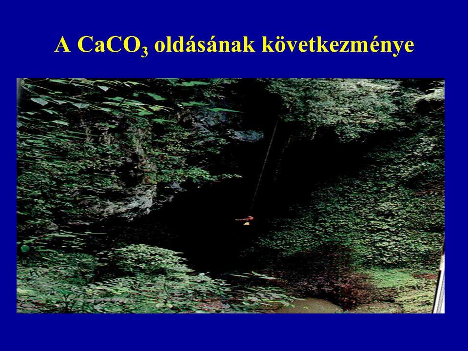 A CaCO 3 oldásának következménye