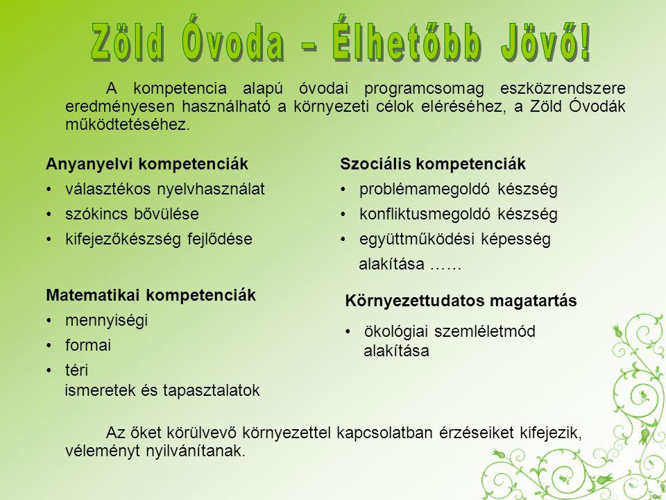 """ALAPMODUL """"Zöld Óvoda – Élhetőbb Jövő I.Modul Egészséges életmód II."""