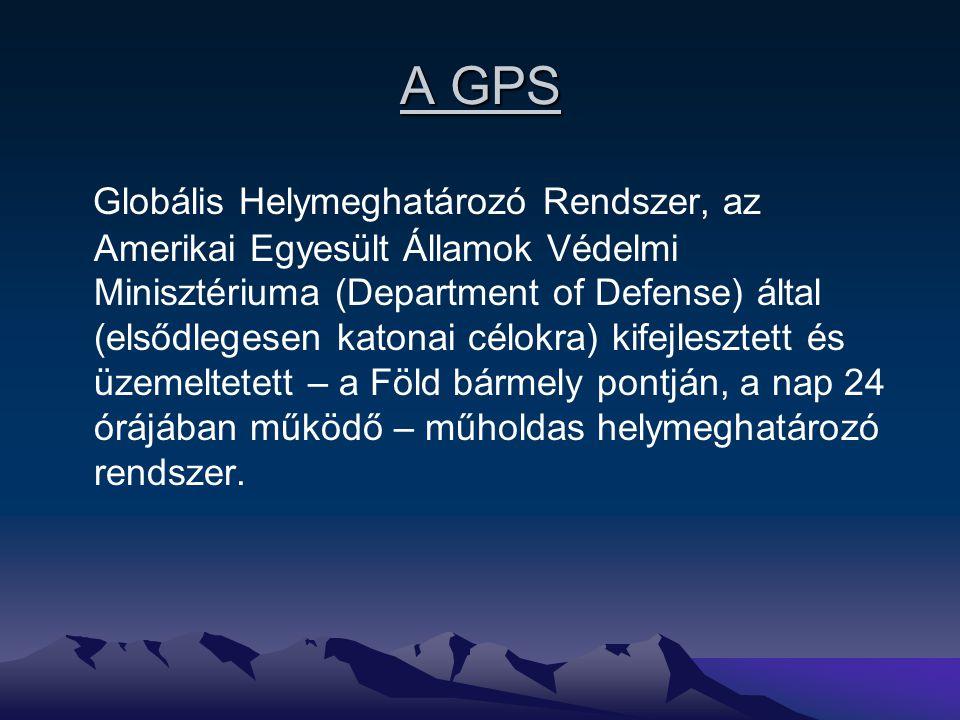 A GPS Globális Helymeghatározó Rendszer, az Amerikai Egyesült Államok Védelmi Minisztériuma (Department of Defense) által (elsődlegesen katonai célokr