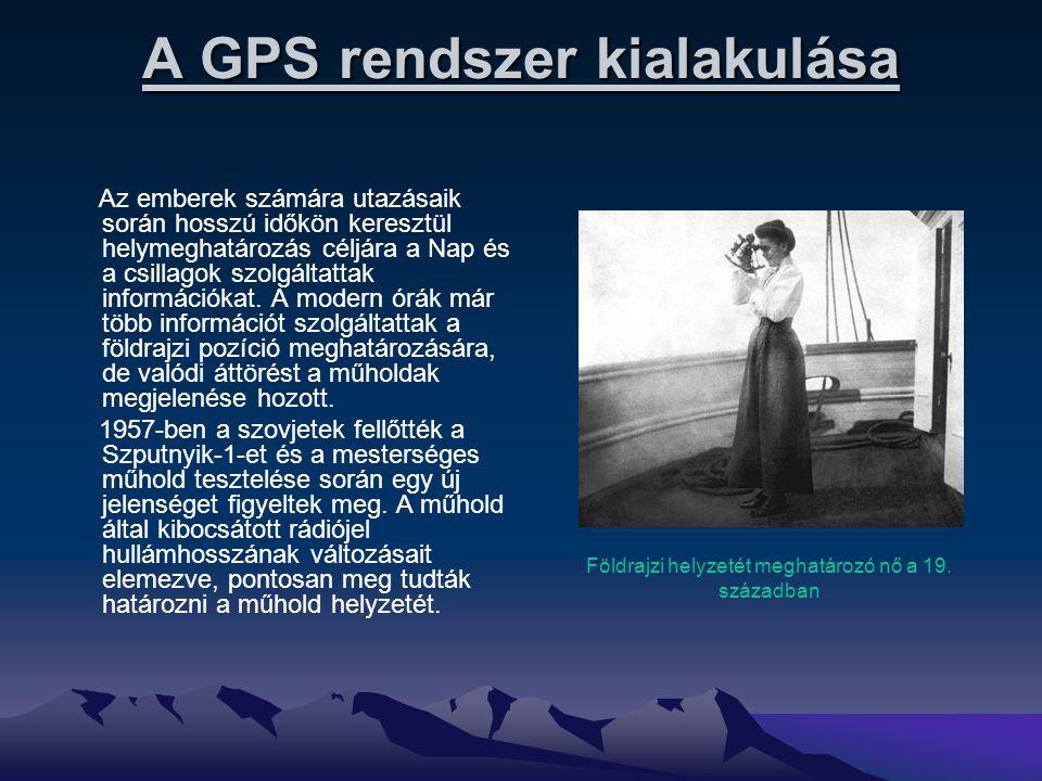 A GPS rendszer kialakulása Az emberek számára utazásaik során hosszú időkön keresztül helymeghatározás céljára a Nap és a csillagok szolgáltattak info