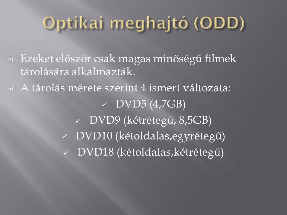  Ezeket először csak magas minőségű filmek tárolására alkalmazták.