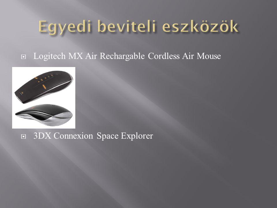  Logitech MX Air Rechargable Cordless Air Mouse  3DX Connexion Space Explorer