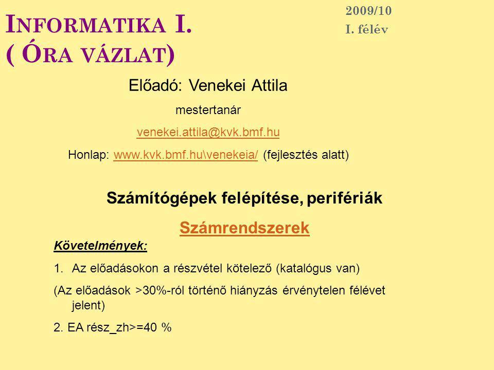 B E - ÉS KIMENETI EGYSÉGEK Modem ISDN, ADSL Hangkártya 102