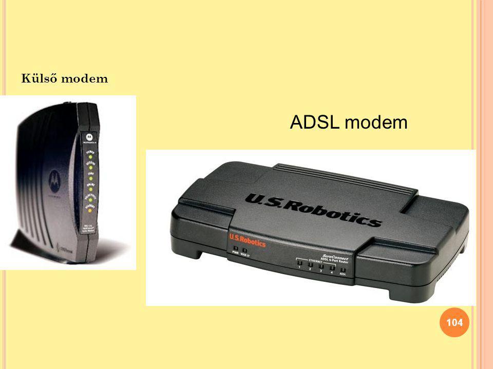 104 Külső modem ADSL modem