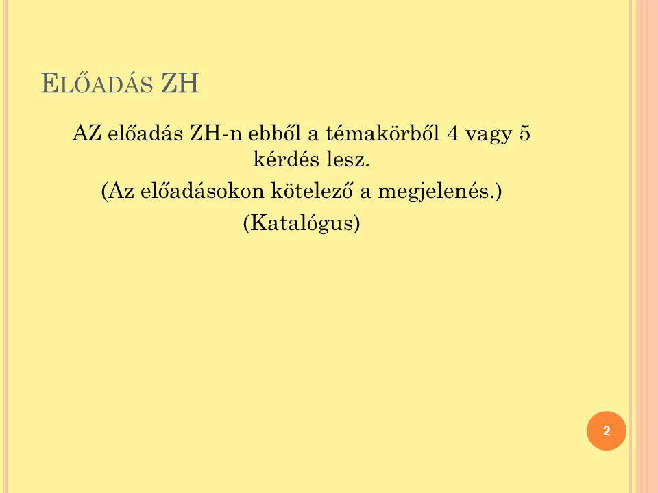 J EGYZET, SZAKIRODALOM (Kamuti-Sándor-Schuster) Számítástechnika I.