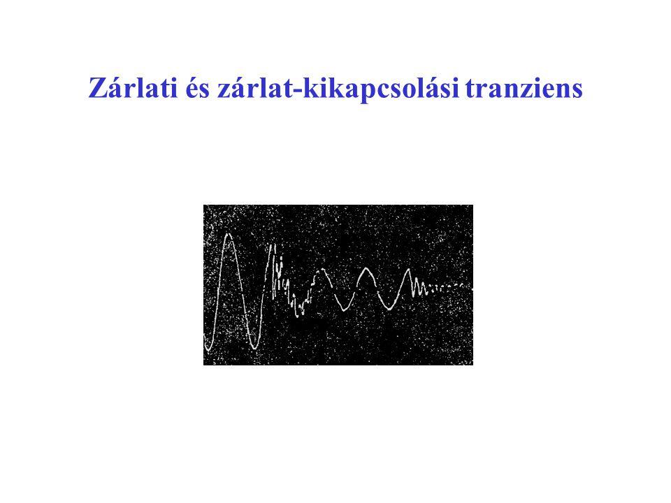 Zárlati és zárlat-kikapcsolási tranziens