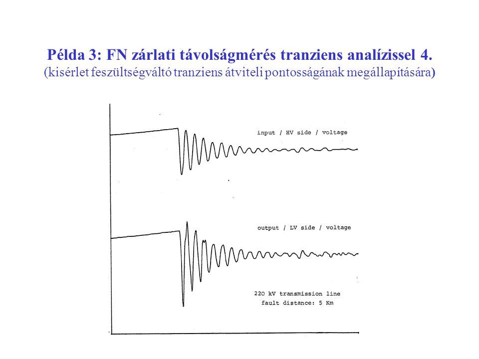 Példa 3: FN zárlati távolságmérés tranziens analízissel 4.