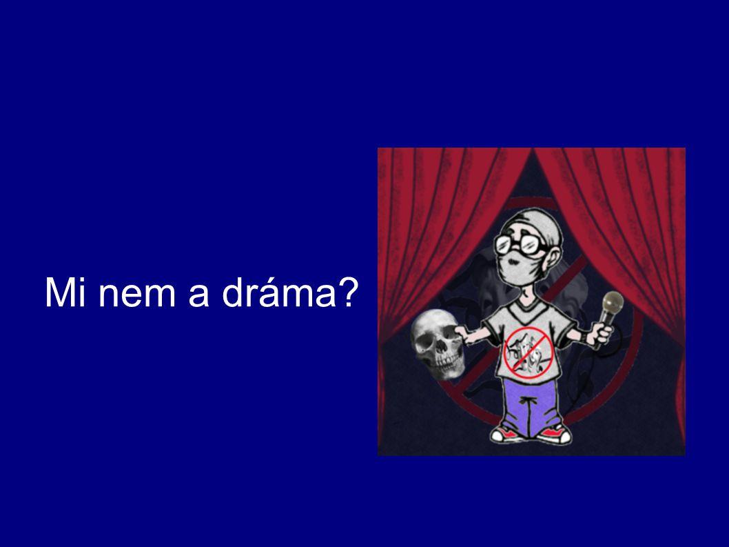 a) színház, színpadi szabályok, színjátszás b) pszichodráma → terápia, önélmény feltárása, spontaneitás, tervezetlen forma c) dramatizálás → reprodukálás, gyermekszínjátszás d) fejlesztő tréningelemek e) népi játékkincs helye, szerepe
