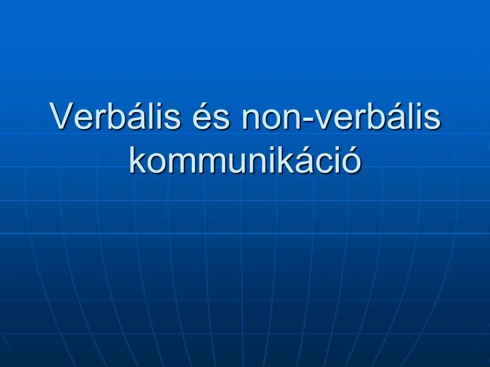Verbális és non-verbális kommunikáció