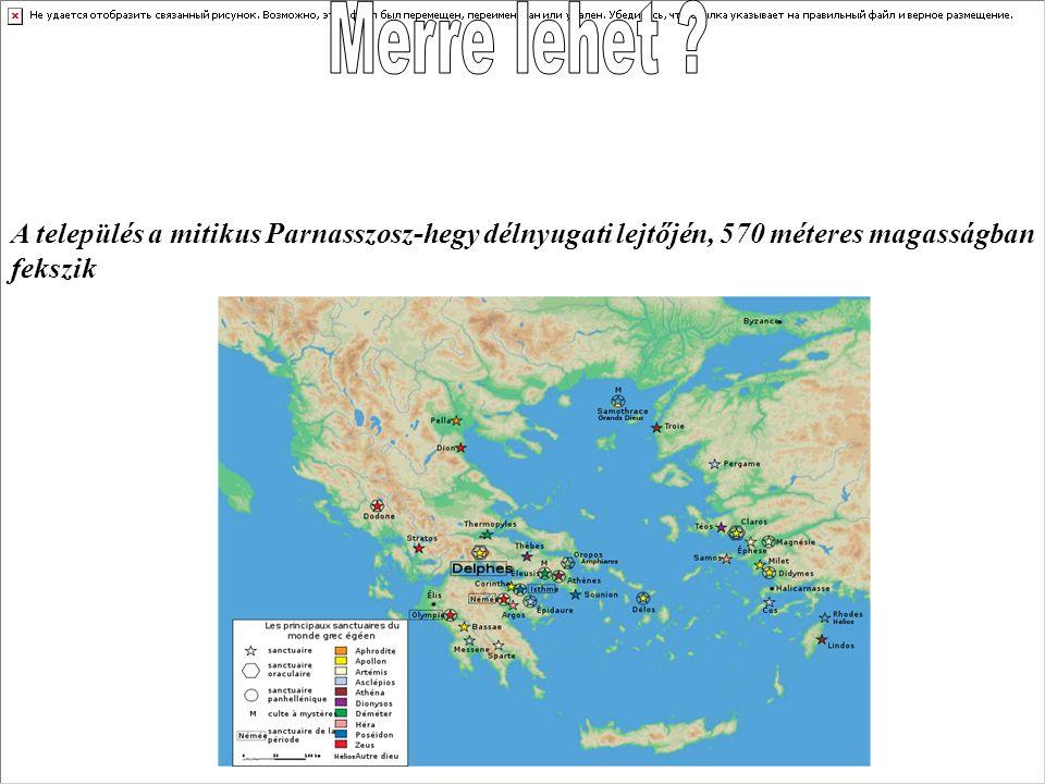 A delphoi jóshely eredete a mükénéi korba, az i.e.
