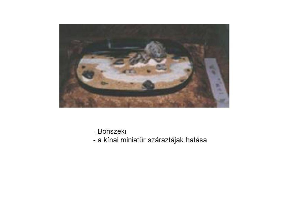 - Bonszeki - a kínai miniatűr száraztájak hatása