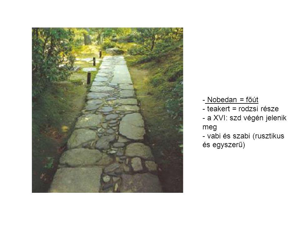 - Nobedan = főút - teakert = rodzsi része - a XVI: szd végén jelenik meg - vabi és szabi (rusztikus és egyszerű)