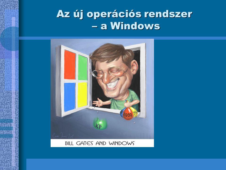 Az új operációs rendszer – a Windows