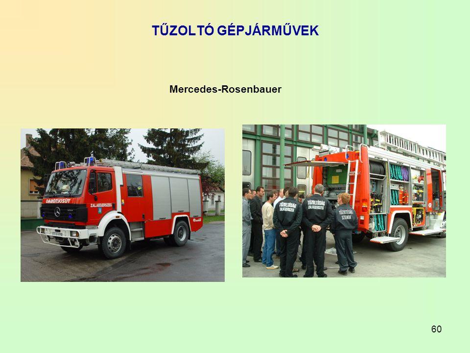 60 TŰZOLTÓ GÉPJÁRMŰVEK Mercedes-Rosenbauer