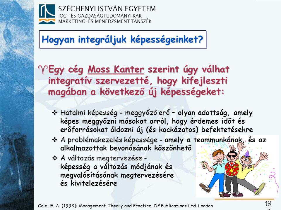 SZÉCHENYI ISTVÁN EGYETEM JOG- ÉS GAZDASÁGTUDOMÁNYI KAR MARKETING ÉS MENEDZSMENT TANSZÉK 18 3 Schumpeter, Joseph A.