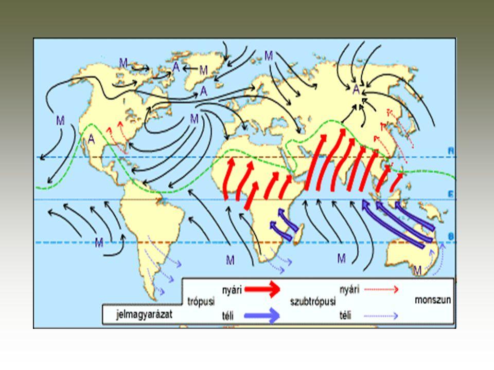 A felszíni áramlások rendszerének kialakulásában fontos szerepet játszanak az állandóan fújó szelek, elsősorban a passzát szél.