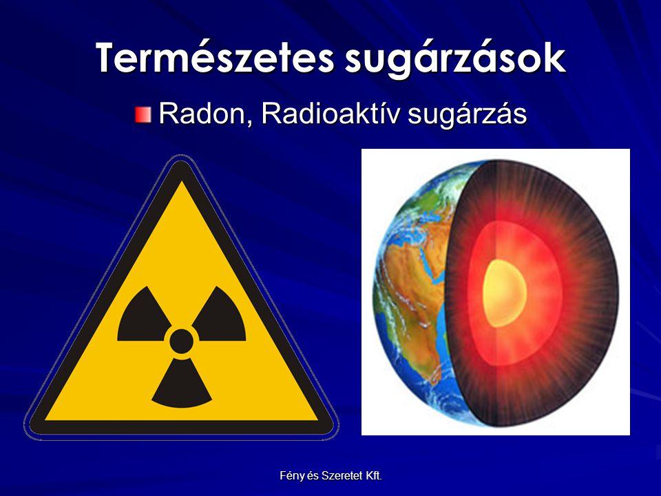 Természetes sugárzások Radon, Radioaktív sugárzás Fény és Szeretet Kft.