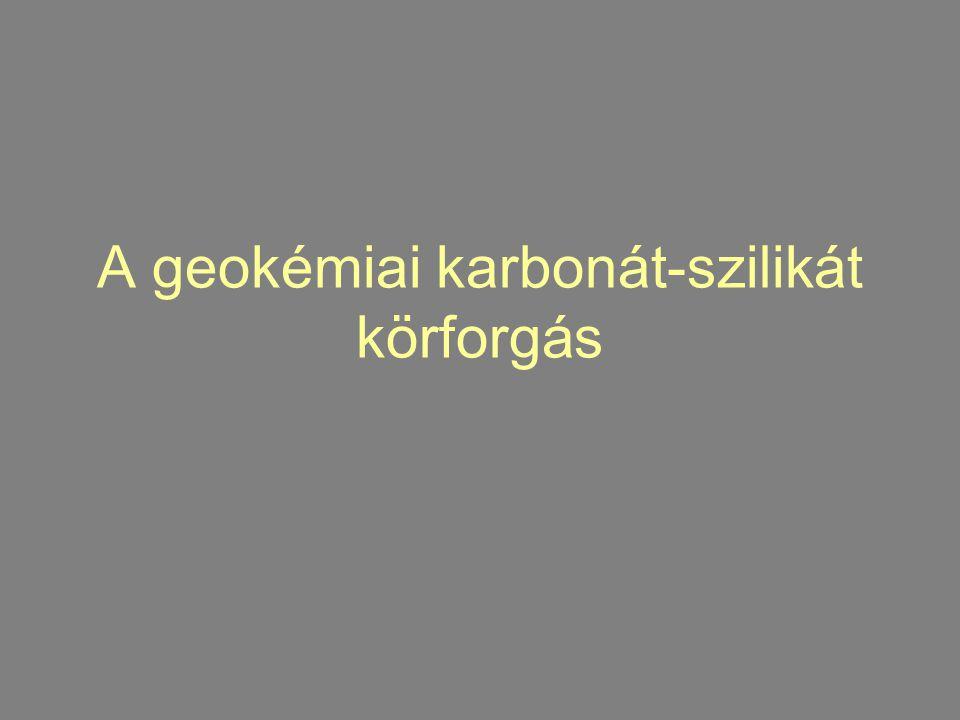 A geokémiai karbonát-szilikát körforgás