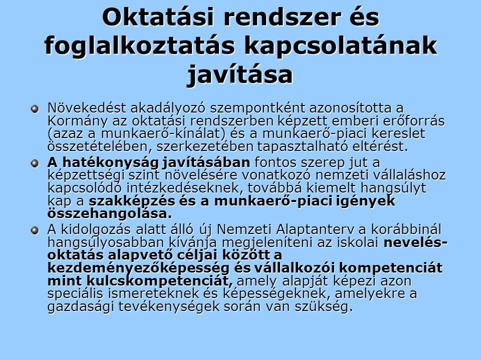 Nemzeti Intézkedési terv feladatai Pályaorientáció.