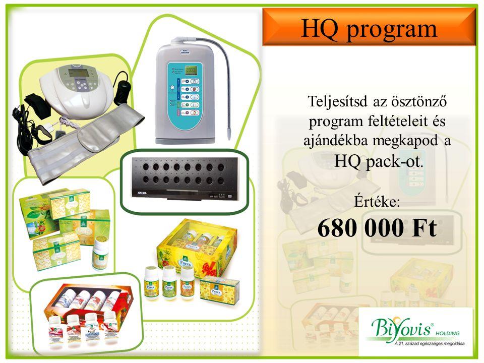Teljesítsd az ösztönző program feltételeit és ajándékba megkapod a HQ pack-ot.