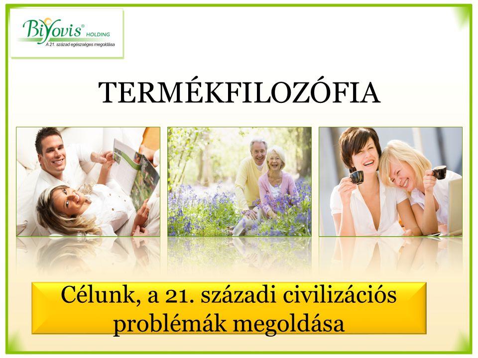 TERMÉKFILOZÓFIA Célunk, a 21. századi civilizációs problémák megoldása