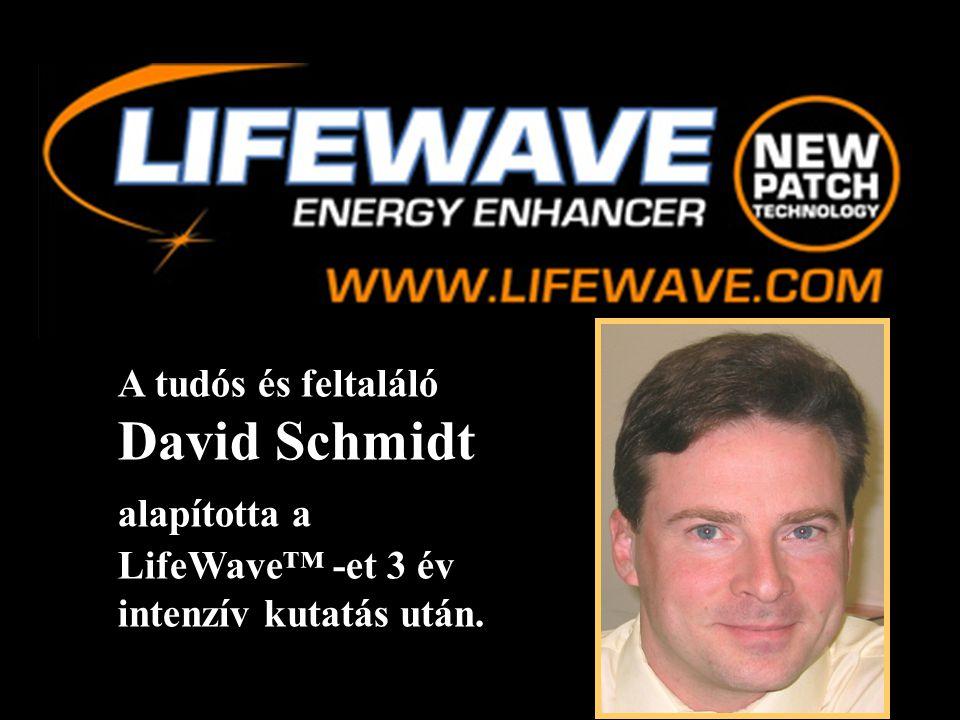 A tudós és feltaláló David Schmidt alapította a LifeWave™ -et 3 év intenzív kutatás után.