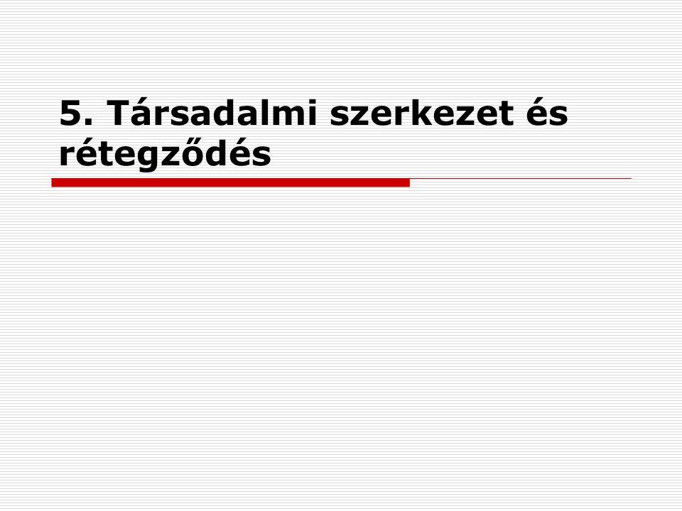 Egyenlőtlenség és szegénység20 A mai magyar társadalom szerkezete  nyugati kétharmados társadalom.