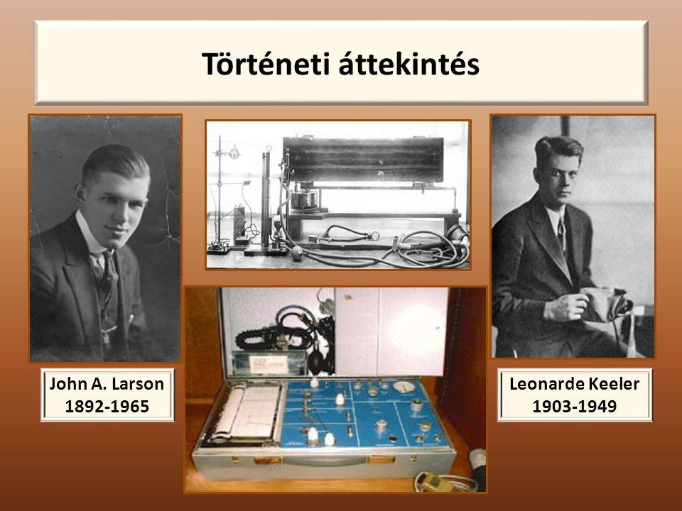 Történeti áttekintés John A. Larson 1892-1965 Leonarde Keeler 1903-1949