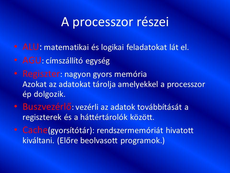 A processzor tokozása Tokozáson a processzor külső burkát, érintkezőinek kialakítását értjük.